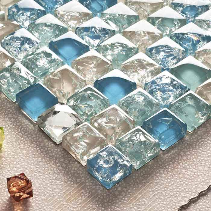 Crackle Glass Mosaic Tile Ksl 1352