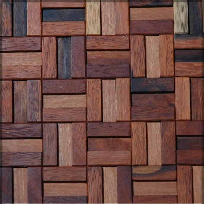 restaurante pared de mosaico de madera protector contra salpicaduras ...