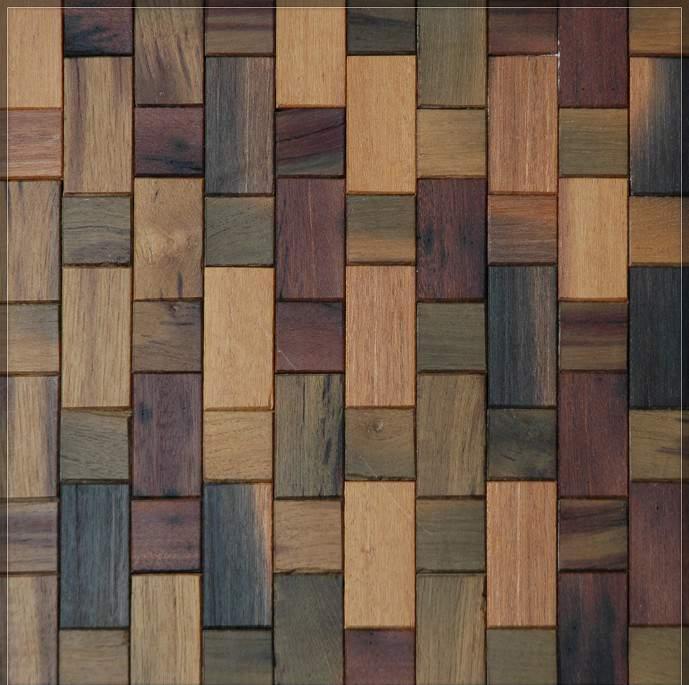 Baldosa de madera de color marrón pared de la habitación de baldosas ...