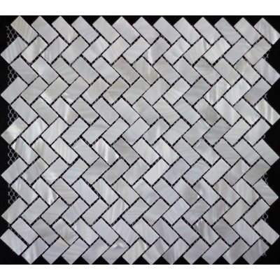 pure white mother of pearl mosaic kslmop076
