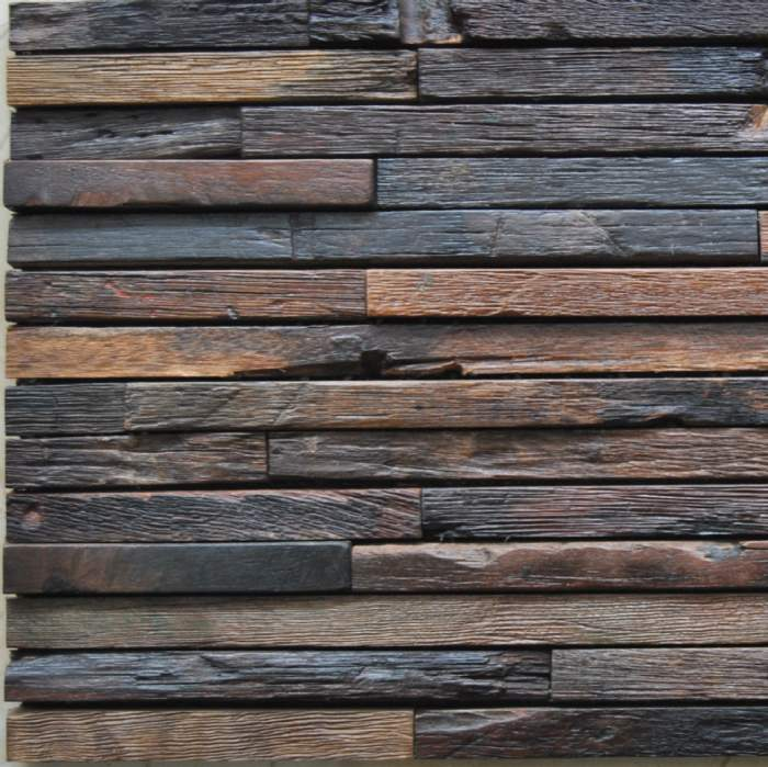 Madera azulejo de la pared de mosaico ksl mc5144 for Mosaico madera pared